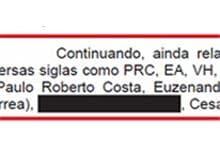 Tarjas pretas em relatório da PF não impedem visualização de nomes