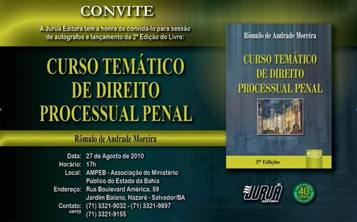 """Lançamento da obra """"Curso Temático de Direito Processual Penal"""""""