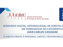 Evento internacional homenageia catedrático argentino Juan Carlos Cassagne