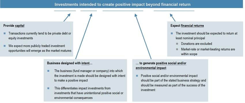 (Imagem: Fonte: Impact Investments: an emergent asset class, 2010 - JP Morgan - Pag. 14)