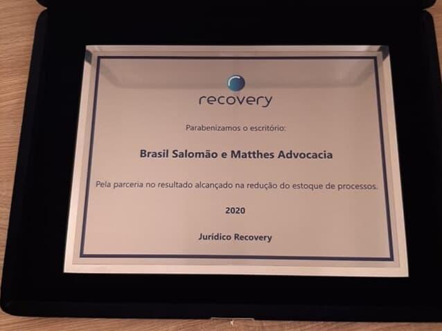 Brasil Salomão e Matthes Advocacia é o vencedor no ranking Recovery