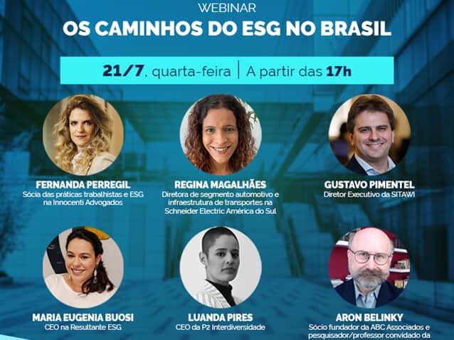 """Migalhas realizou o webinar """"Os caminhos do ESG no Brasil"""""""