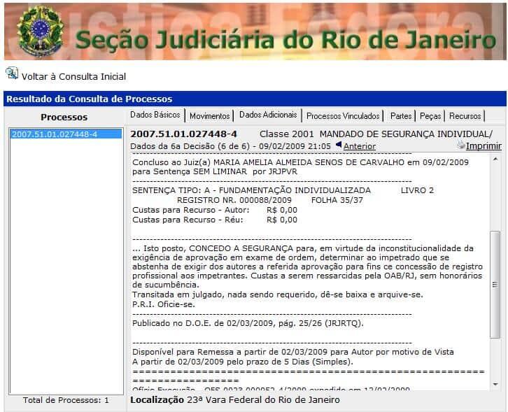 Juíza considera inconstitucional Exame de Ordem