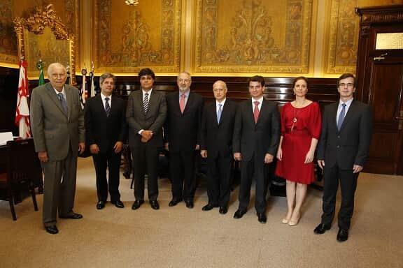 Diretoria da AASP reúne-se com o presidente do TJ/SP e o corregedor-geral da Justiça