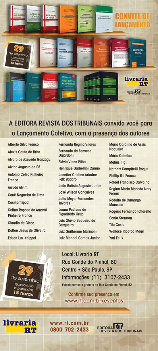 """Lançamento da obra """"Soluções Práticas do Direito – Pareceres"""""""