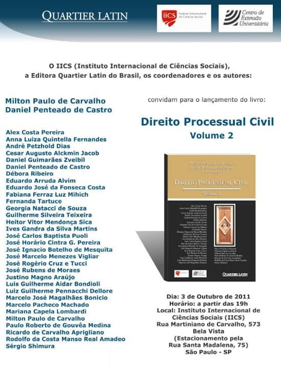 """Lançamento da obra """"Direito Processual Civil"""""""