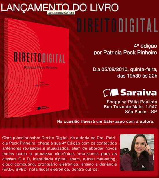 """Lançamento da 4ª edição da obra """"Direito Digital"""""""