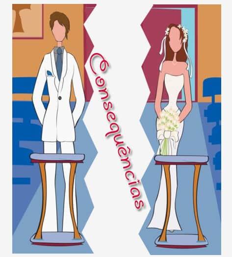 As conseqüências da separação, no casamento e na união estável