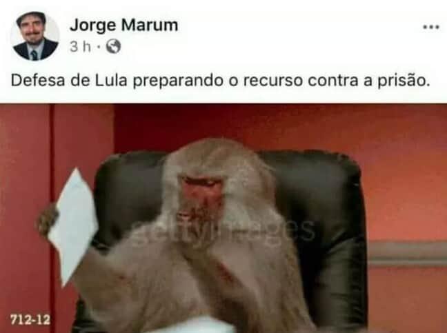 OAB/SP aprova parecer contra promotor que comparou defesa de Lula a macacos
