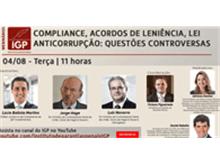 """IGP realiza webinar """"Compliance, acordos de leniência, lei anticorrupção: questões controversas"""""""