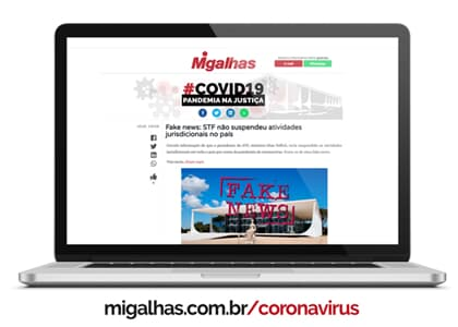 Migalhas reúne em site especial notícias jurídicas ligadas ao coronavírus