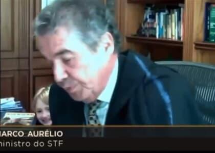 'Vovô!': Neta de Marco Aurélio aparece em sessão por videoconferência do STF