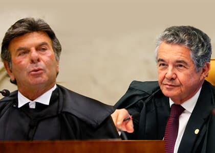 """Marco Aurélio, relator do caso da 2ª instância, responde Fux; presidente afirmou em entrevista que decisão do STF foi de """"baixa densidade jurídica"""""""