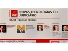 """IGP realiza webinar """"Novas tecnologias e o Judiciário"""""""