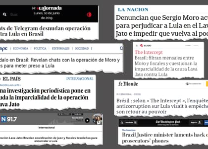 Mensagens comprometedoras entre Moro e Dallagnol repercutem na mídia internacional